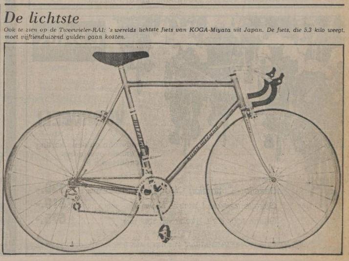 Koga lichtste fiets