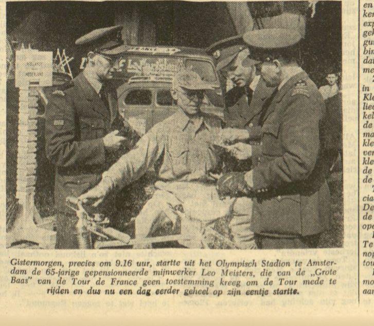 Foto uit Leeuwarder Courant van 8 juli 1954, met dank aan de Koninklijke Bibliotheek.